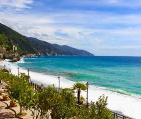 Italian seaside tourism Cinque Terre Stock Photo 06