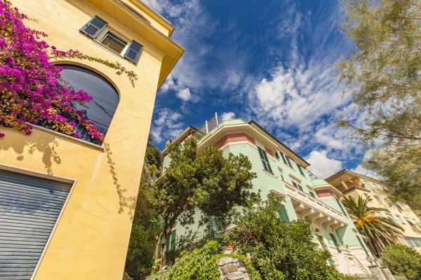 Italy Travel Cinque Terre color buildings Stock Photo