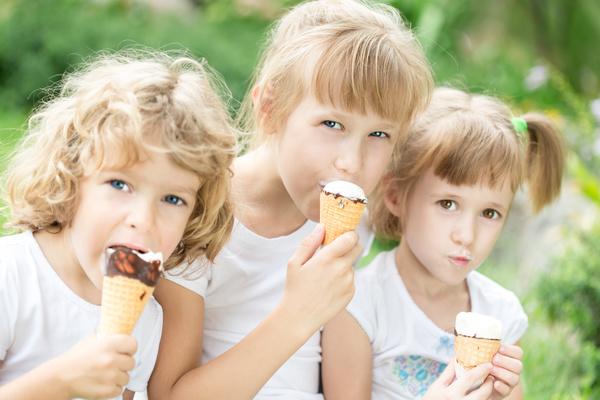 Aufgetautes Eis Essen