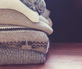 Knitted Warm Clothes Stock Photo 05