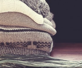 Knitted Warm Clothes Stock Photo 06