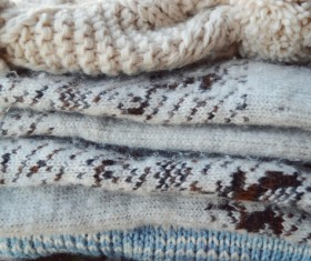 Knitted Warm Clothes Stock Photo 11