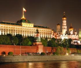 Kremlin at night Stock Photo 01