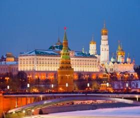 Kremlin at night Stock Photo 02