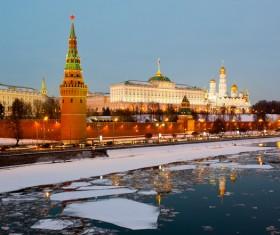 Kremlin at night Stock Photo 03