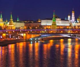Kremlin at night Stock Photo 04