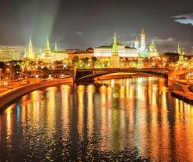 Kremlin at night Stock Photo 05