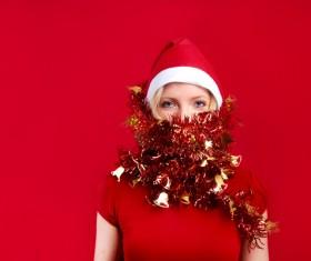 Ladies in festive costumes Stock Photo