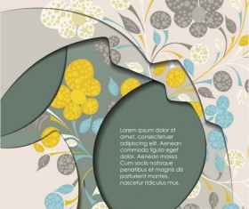 Layers floral background vector material 06