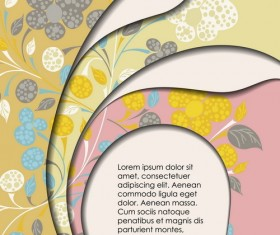 Layers floral background vector material 10