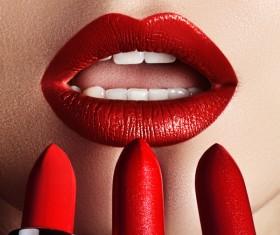 Lips and lipstick Stock Photo 03