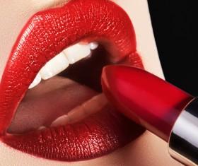 Lips and lipstick Stock Photo 04