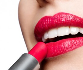 Lips and lipstick Stock Photo 05
