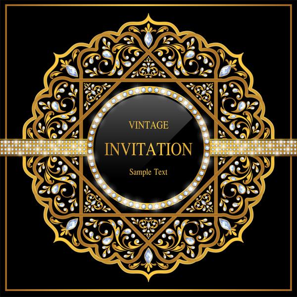 Luxury black invitation card with ornaments vector 03 free download luxury black invitation card with ornaments vector 03 stopboris Gallery