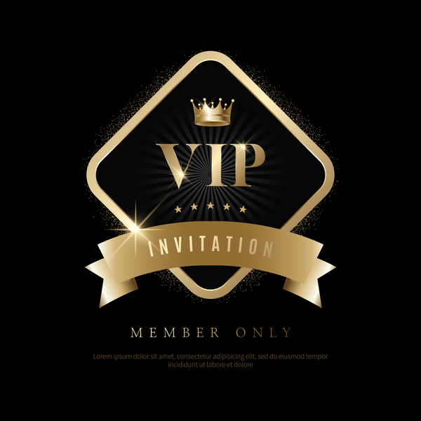 Luxury black with golden vip invitation card vector 10 free download luxury black with golden vip invitation card vector 10 stopboris Gallery