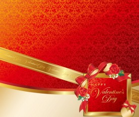 Luxury red valentine background vector