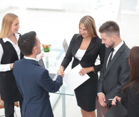 Meet with clients Stock Photo