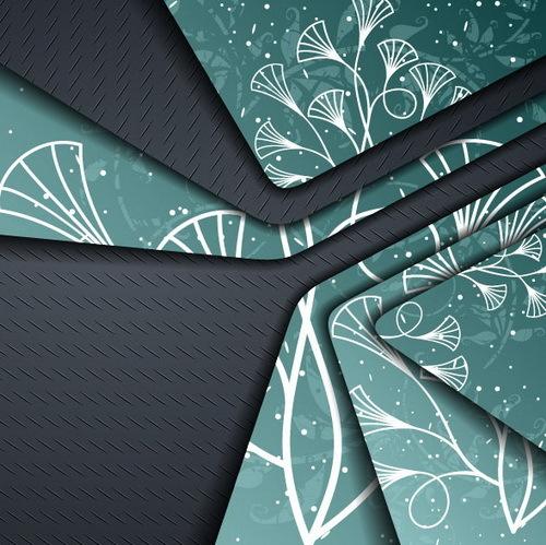 Metallic layers background design vector 02