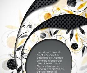 Metallic layers background design vector 03