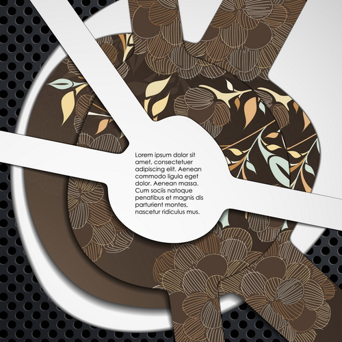 Metallic layers background design vector 09