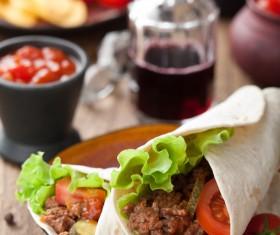 Mexican spicy burrito Stock Photo