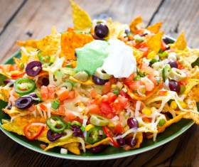 Mexican vegetable corn flakes Stock Photo