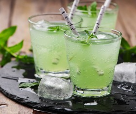 Mint egg cocktail Stock Photo