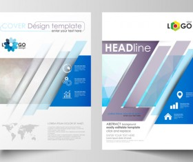Modern brochure cover creative vectors 01