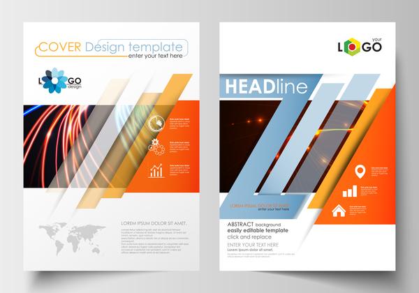 Modern brochure cover creative vectors 02