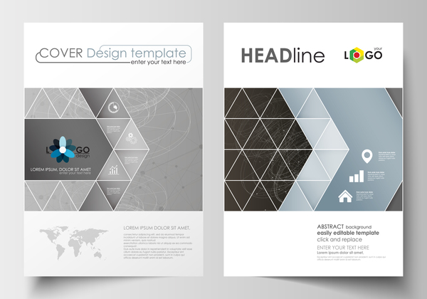 Modern brochure cover creative vectors 03