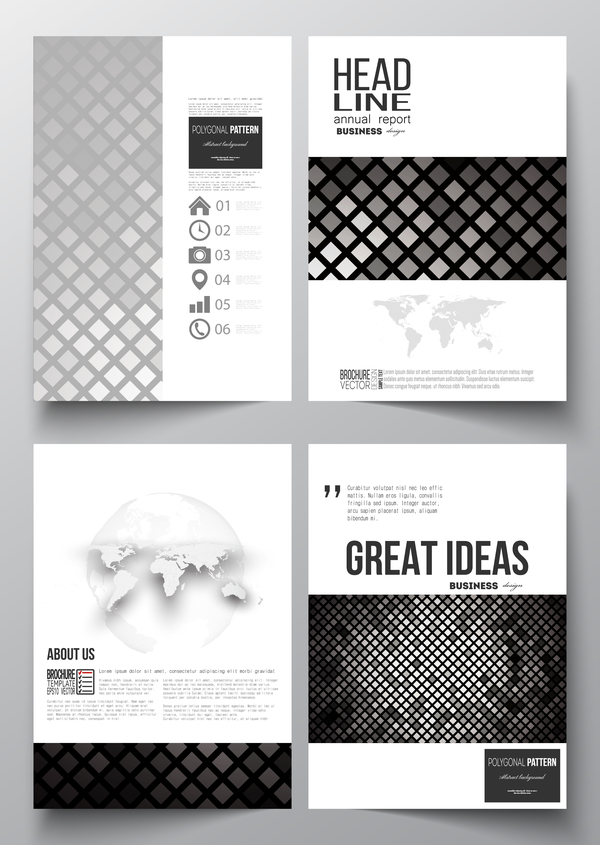 Modern brochure cover creative vectors 04