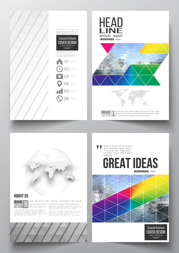 Modern brochure cover creative vectors 05