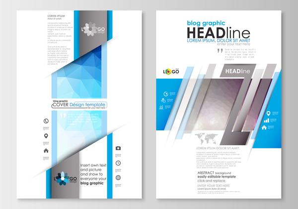 Modern brochure cover creative vectors 06