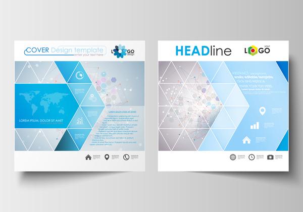 Modern brochure cover creative vectors 07
