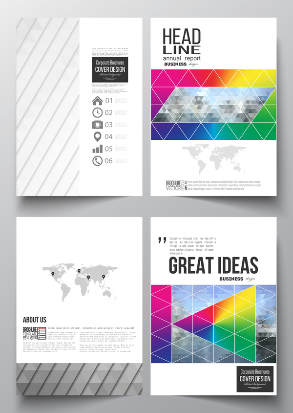 Modern brochure cover creative vectors 08