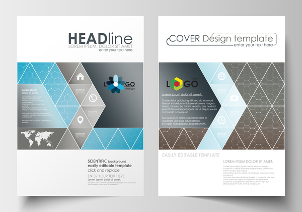 Modern brochure cover creative vectors 09
