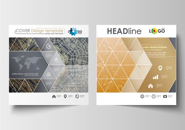 Modern brochure cover creative vectors 10