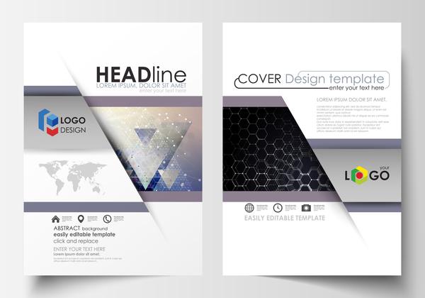 Modern brochure cover creative vectors 11