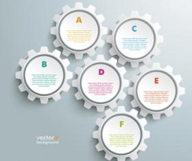 Modern gear infographic template vectors 06