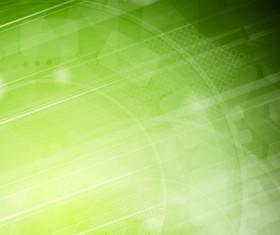 Modern tech green background vector
