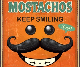 Mostach keep smiling poster vector