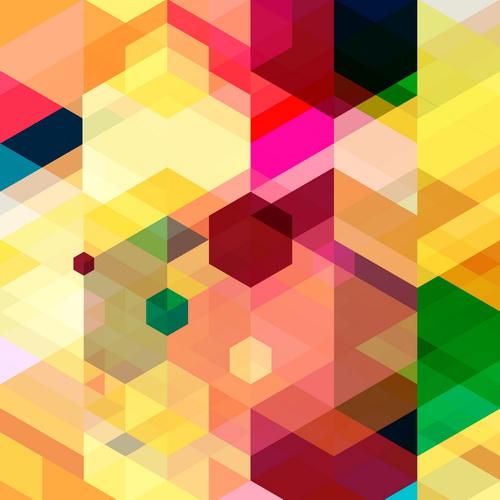 Multicolor geometric shapes backgrounds vectors 10