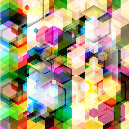 Multicolor geometric shapes backgrounds vectors 11