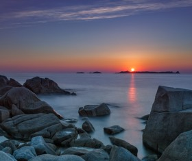 Natural landscapes sunsets and sunrises Stock Photo 02