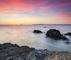 Natural landscapes sunsets and sunrises Stock Photo 03