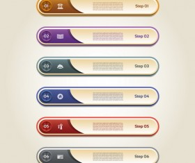Numbers business banners design vector