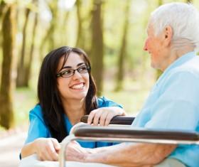 Nurse care for elderly Stock Photo 02