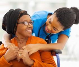 Nurse care for elderly Stock Photo 04