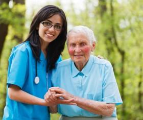 Nurse care for elderly Stock Photo 06