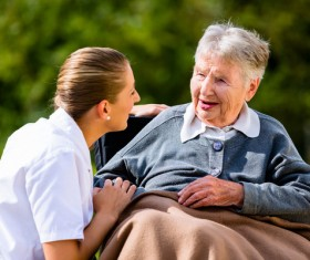 Nurse care for elderly Stock Photo 09
